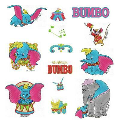12 Disney Dumbo collection machine Embroidery Designs brother PES JEF HUS
