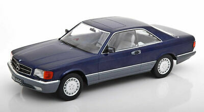 Kk Maßstab 1985 Mercedes Benz 560 Sec C126 Blau Metallic Le Of 1000 1/18
