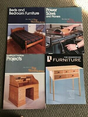 4 book lot Best of Fine Woodworking Projects Bedroom Furniture Power Saws Planer
