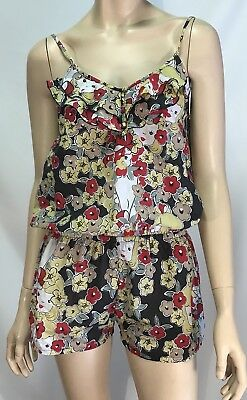 Peter Alexander Floral Playsuit - Size Small - Two Pockets