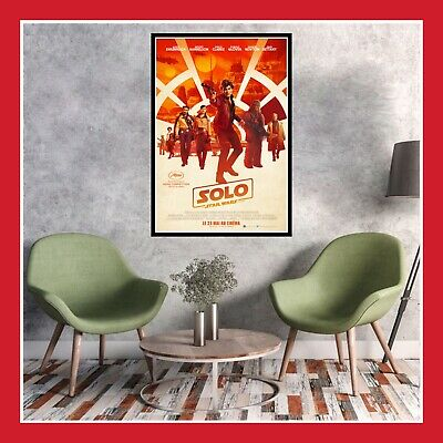 Toile Affiche Fr Cinema Movie Sortie Film Poster Star Wars Story Han Solo 2018