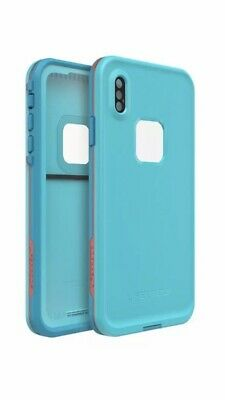Genuine Lifeproof Fre Frē case cover for iPhone XS MAX Blue/orange waterproof