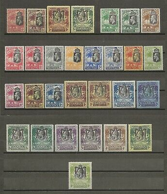 GAMBIA 1922-29  SG 1118/42  & Shades Mint Cat £795