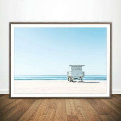 Lifeguard Tower On Beach Art Print. Perfect Gift For Home/Shop Decor