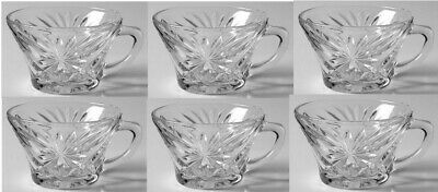 Early American Prescut Glass Oatmeal Clear Punch Cups EAPC