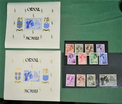 Belgium Stamps Orval Set Including Both Mini Sheets H/M   (H116)