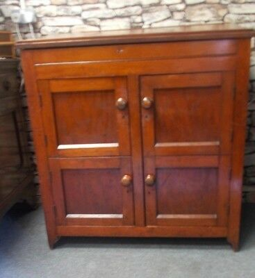 Unique Pine Victorian 19th Century Clerks Desk Storage Cabinet Cupboard Chest
