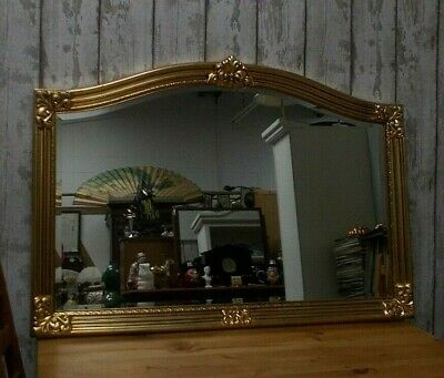 Quality Large Antique Style Rococo Gilt Ornate Bevel Wall Hall Mirror