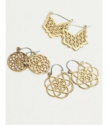 e0f4f94e1 URBAN OUTFITTERS ITTY Bitty Metal Stud Earrings Set of 6 NWT $50 ...