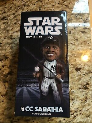 CC Sabathia 2019 NY Yankees Star Wars Bobblehead SGA Jedi NY Stadium On May 4th