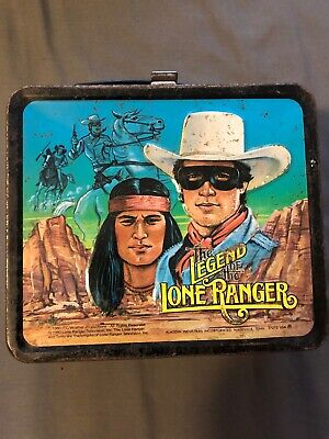 Vintage 1980 The Legend of The Lone Ranger Metal Lunchbox & Thermos C8+ Western