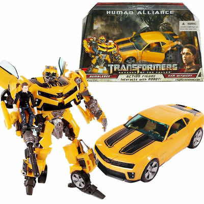 Transformers Bumblebee & Sam Witwicky Human Alliance Robot Action Figures Toy