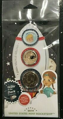 2019 US Mint Rocketship 2-Coin Set Commemorative SOLD OUT ONLY 50,000 PRODUCED
