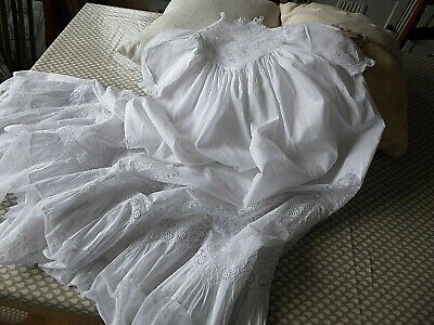 Antique Victorian Child's Christening/Baptism Gown/Robe Circa 1860'S Snow White