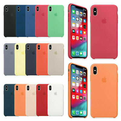 Case For Apple iPhone XS Max XR XS X Genuine Original Ultra Thin Silicone Cover