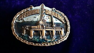 'Offshore Drilling' Heavy-duty Belt Buckle By The Great American Buckle Co....