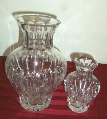 Large Waterford Marquis Crystal 10 inch Vase in Sheriden Pattern-EUC