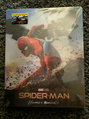 Rare Spider-Man Homecoming Fac #89 4K Uhd And 3D/2D Blu Ray Lenticular Steelbook