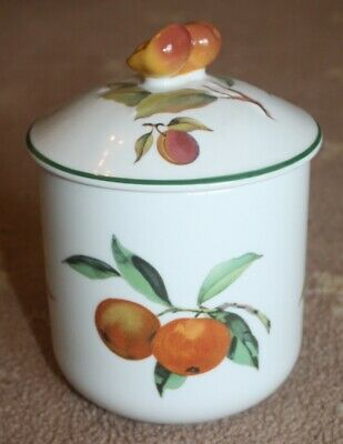 New Royal Worcester 'Evesham Vale' Lidded Airtight Pot / Storage Jar. Mint