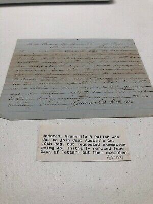 1861 Us Civil War Document Exemption Request Initially Refused