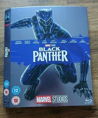 Marvel O-Ring BLACK PANTHER blu-ray sleeve (no disc/case/movie)