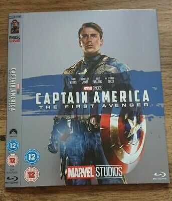 Marvel O-Ring CAPTAIN AMERICA FIRST AVENGER blu-ray sleeve (no disc/case/movie)