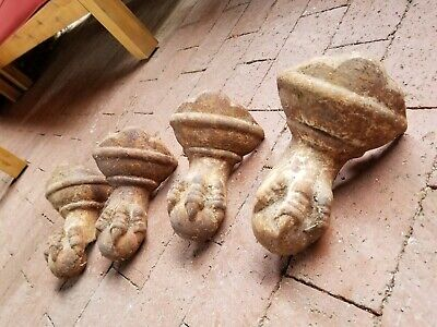 4 Matching Antique Cast Iron  Bathtub Feet Ball and Claw