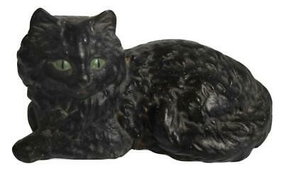 Antique Cast Iron Cat Door Stop Original Paint