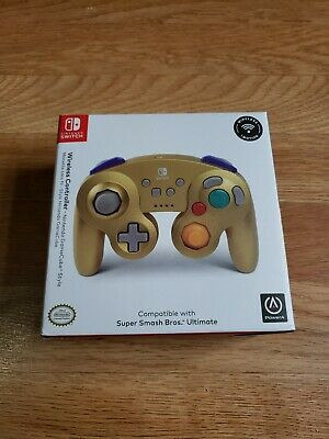 Nintendo Switch Gold Wireless GameCube Style Controller For Smash Bros Ultimate