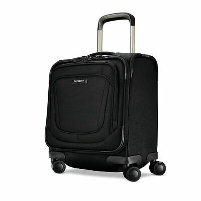 "New Samsonite Silhouette 16 Obsidian Black 18"" Underseat Spinner Carry-On"