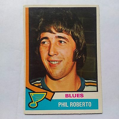 1974-75 OPC O-Pee-Chee #208 Phil Roberto St. Louis Blues - EXMT