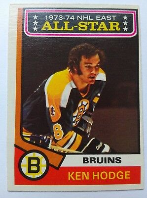1974-75 OPC O-Pee-Chee #128 Ken Hodge All Star Boston Bruins - EX
