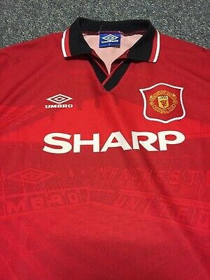 d7b36268ce6 1994 96 Umbro vintage manchester united football shirt adults m made in Uk