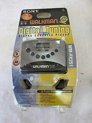 Vintage Sony Walkman Wm-Fx251 Digital Tuning Stereo Cassette Player New In Box