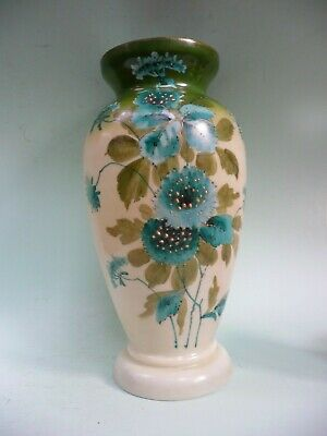 "19th century Hand Painted Glass Vase, 12"" high..........................ref.1628"