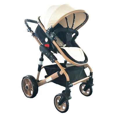 High View Baby Stroller Foldable Travel Pram Convertible Baby Carriage with H3Z9