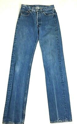 22c6bb99 True Vintage Levis 501 Button Fly Denim Mom Jeans High Rise Meas. 28x36  Straight
