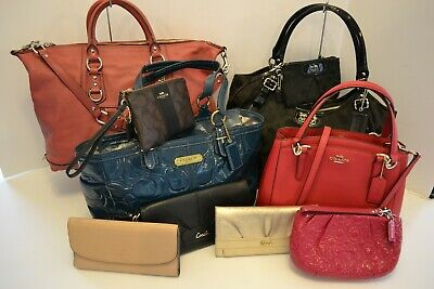 COACH LOT OF 10 NEW, NWOT & PRE-OWNED HANDBAGS & ACCESSORIES in MULTI