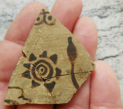 Fine Ancient Greek Painted Pottery Fragment 500Bc Found France