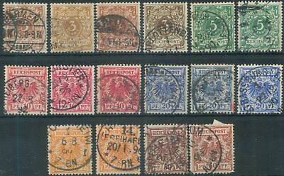 German Reich 1889-1900 Mi 45-50 Figures/Imperial Eagle in Oval definitives used