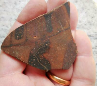 Fine Ancient Greek Painted Pottery Fragment Male Figure 500Bc Found France
