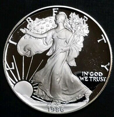 1986-S Proof Silver American Eagle $1 .999 Fine Silver 1 Oz. United States Coin