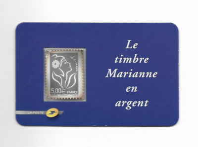 Timbre France N°3925 Type Marianne Lamouche Argent 5 euro Neuf Luxe