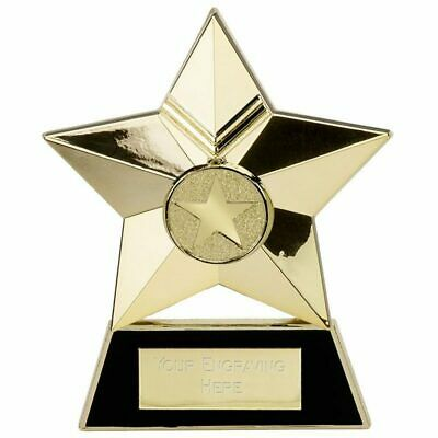 Star Plaque4 Trophy Award 3 colours free engraving & p&p