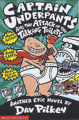 Captain Underpants and the Attack of the Talking  Toilets, Pilkey, Dav, New Book