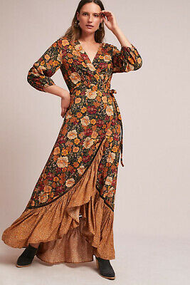 c020d9982f4 ANTHROPOLOGIE FARM RIO Floral Madrid Wrap Maxi Dress Xs -  125.00 ...
