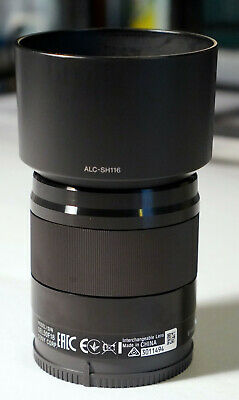 Sony SEL50F18 50 mm F/1.8 FE E-mount with Hood & Caps Black GREAT CONDITION