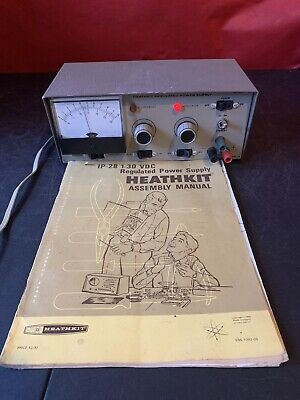 Vintage Heathkit IP-28 Reguleted Power Supply with Assembly Manual!