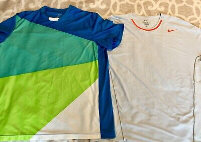 Activewear Clothing, Shoes & Accessories Nike Dri Fit Rafael Nadal Xl 2013 French Open Shirt
