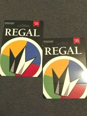Regal Cinemas Gift Cards (2 - $50 Total) Never Used*